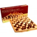 Inlaid Wooden Chess Set - 37.5cm