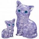 Crystal puzzle - Cat & Kittten