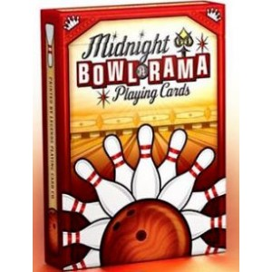 Bowl-A-Rama Red Playing Cards